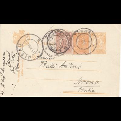 Rumänien: 1925: Jibau nach Arona/Italien