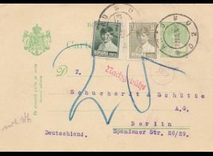 Rumänien: 1928: Araj nach Berlin, Nachgebühr