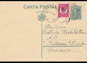 Rumänien: 1933: Campulung Moldovenesc nach Dresden