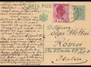 Rumänien: 1936: Oriadea nach Italien