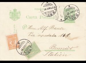 Rumänien: 1927: Jimbol nach Italien