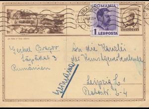 Rumänien: 1939: Brasov nach Leipzig
