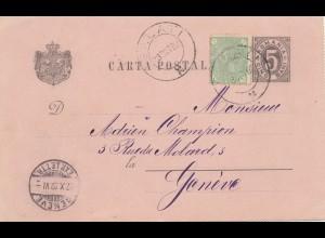 Rumänien: 1892: Balati nach Genf