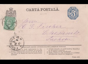 Rumänien: 1879: Ganzsache nach Chemnitz