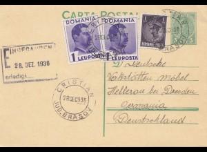 Rumänien: 1936: Christian nach Hellerau