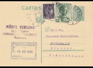 Rumänien: 1935:Gernauti nach Hellerau