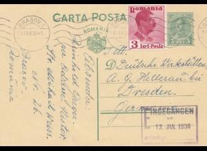 Rumänien: 1936: Brasov nach Hellerau