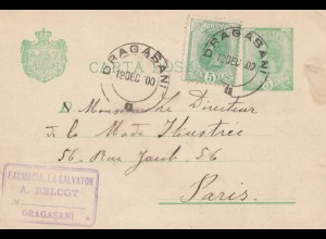 Rumänien: 1900: Dragasani nach Paris
