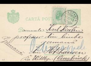 Rumänien: 1905: Ganzsache Constanta nach Osnabrück