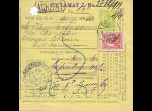 Rumänien: 1911: Galati nach Roman