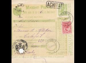 Rumänien: 1909: Corabia nach Calafat