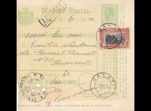 Rumänien: 1906: Galati nach Bucaresti
