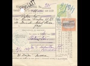 Rumänien: 1913 Biroul-Autorizat nach Jasi