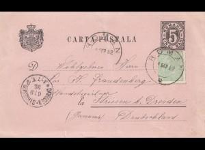 Rumänien: 1892: Roman nach Dresden
