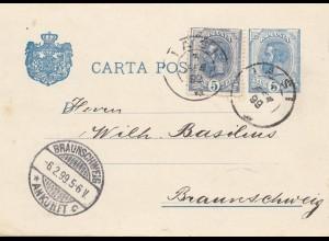 Rumänien: 1899: Iasi nach Braunschweig