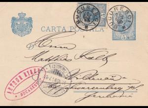 Rumänien: 1896: Bucaresti nach Schwarzenberg