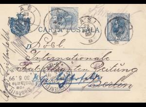 Rumänien: 1899: Iasi nach Berlin