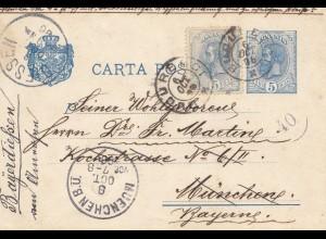 Rumänien: 1896: Bucuresci nach München