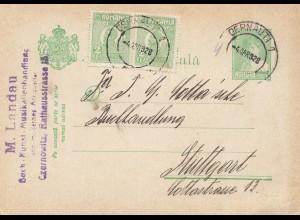 Rumänien: 1928: Oernauti nach Stuttgart