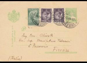 Rumänien: 1931: Ganzsache nach Italien