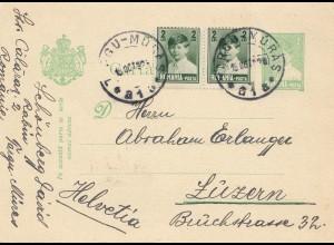 Rumänien: 1928: Argu Nüras nach Luzern