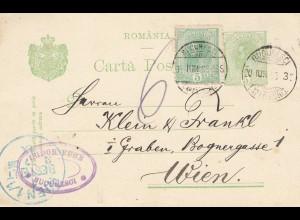 Rumänien: 1905: Bucuresti nach Wien