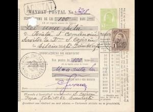Rumänien: 1913: Bucaresti nach Bileinresti