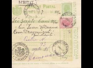 Rumänien: 1907: Tirgu-Neamtu nach Atra-Neamtu