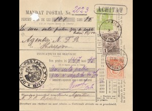 Rumänien: 1913: Braila nach Harsova