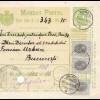 Rumänien: 1909: Mandat Postal Giurgiu nach Bucaresti
