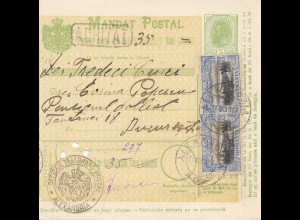 Rumänien: Mandat Postal Alexandria nach Bucaresti 12.03.1907