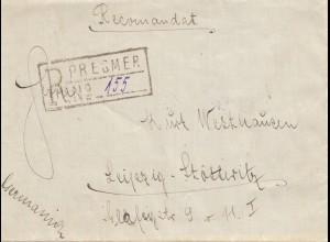 Rumänien: 1927: Presmer nach Leipzig