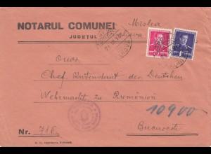 Rumänien: 1942: Judetul nach Bucarest, Wehrmacht Chefintendant, Zensur