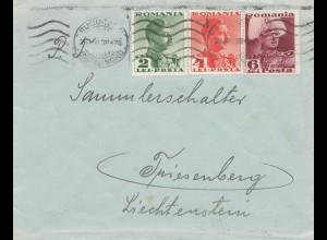 Rumänien: 1939: Bucuresti nach Triesenberg