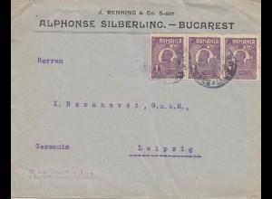Rumänien: Brief von Bucarest nach Leipzig