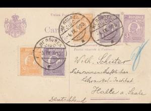 Rumänien: 1925: Ganzsache nach Halle