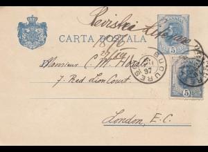 Rumänien: 1887: Bucuresti nach London