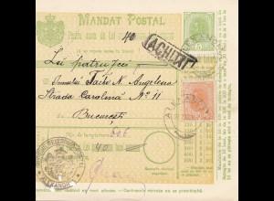 Rumänien: 26.03.1907: Mandat Postal Alexandria nach Bucaresti