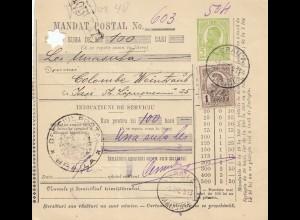 Rumänien: 1913: Mandat Postal Braila