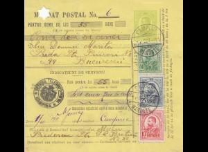Rumänien: 1911: Mandat Postal Campina nach Bucuresti