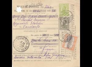 Rumänien: 1913: Mandat Postal Bucuresti nach Constanta