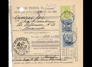 Rumänien: Mandat Postal Braila 1913 nach Bucuresti