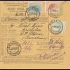 Rumänien: 1907: Mandat Postal International: Bucuresti nach Krisbaban