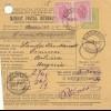 Rumänien: Mandat Postal International 1907: Bucuresti nach Ungarn