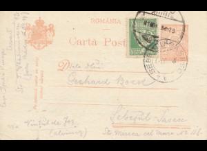 Rumänien: 1923: Ganzsache