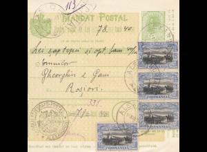 Rumänien: 1907: Mandat Postal Alexandria nach Rosioni