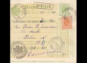 Rumänien: 1907: Mandat Postal Tirgu Neamtu nach Piatra