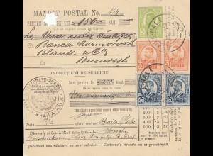 Rumänien: 1913: Mandat Postal Braila nach Bucuresti