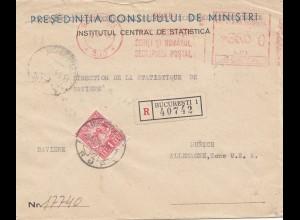 Rumänien: 1948: Einschreiben Bucuresti nach München