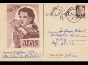 Rumänien: 1959: Ganzsache von Galat